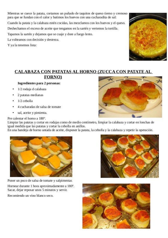 Ensalada de aguacate y zanahorias asadas, tortilla de patata y calabaza y calabaza y patata al horno2