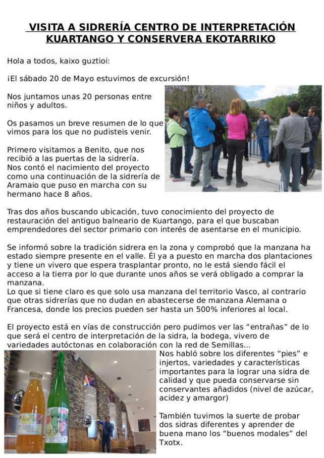 Memoria VISITA 20 DE MAYO A KUARTANGO